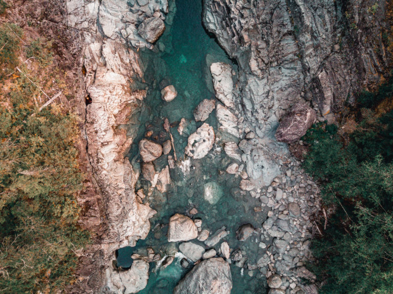 Wally creek depuis le drone